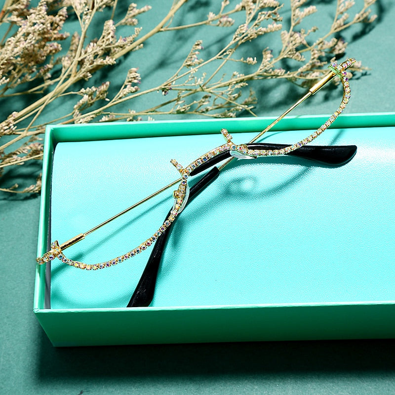 Miss Tiffany Rhinestone Lensless Frames