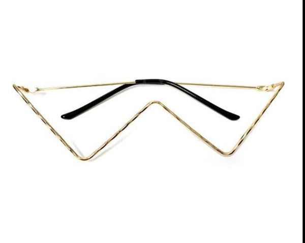 G.Gee Luxury Triangle LensLess Vintage Frames