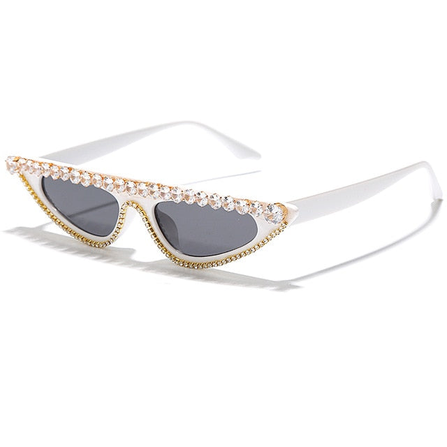 Venus Cat Eye Diamond Rimmed Sunglasses (5 Options)