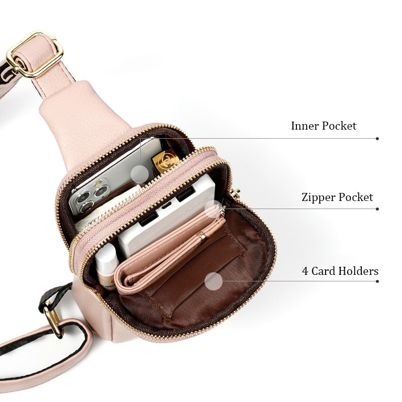 New Women's High Quality Banana Belt Bag Crossbody waist Bag