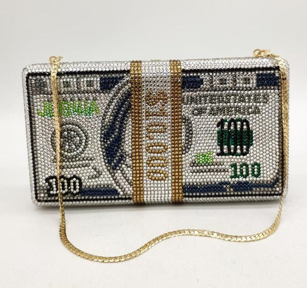 rhinestone - money - clutch - ENE - Trends - Beyonce -  diamond - purse - alexander-wang - money clutch