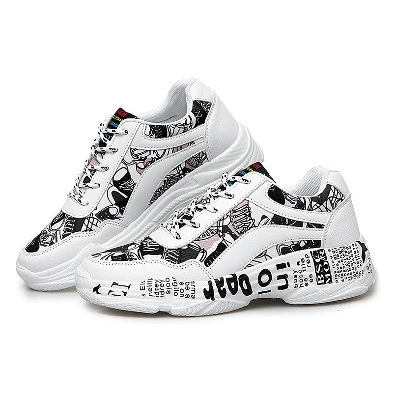"""SPREAD THE WORD""  Women's Casual Sneakers - ENE TRENDS"