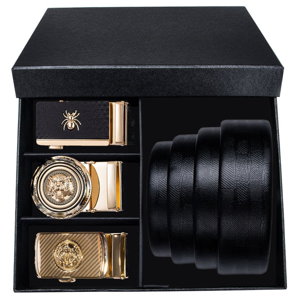 High Quality Gold Buckle Designer Box Belts Set - ENE TRENDS