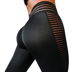Black Sheer High Waist Fitness Leggings