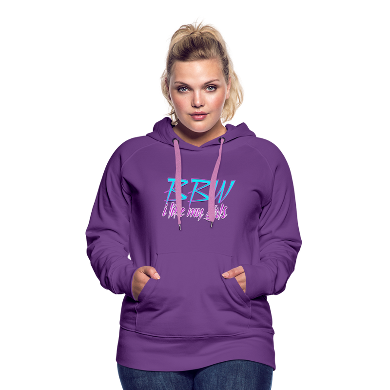 Brian Angel BBW Womens Premium Hoodie - purple