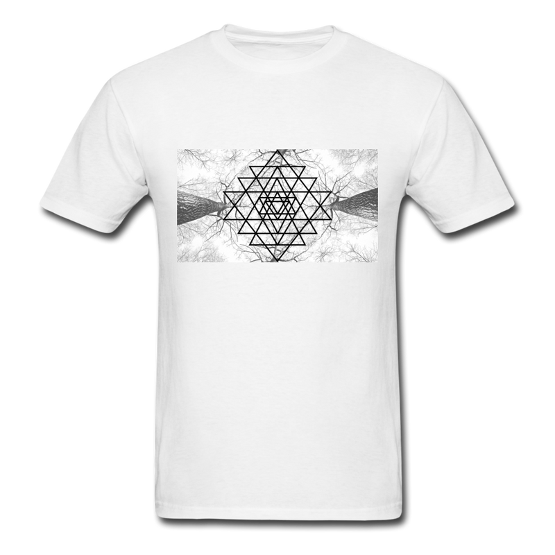 Sacred Geometry Casual Unisex Classic T-Shirt - white