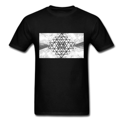 Sacred Geometry Casual Unisex Classic T-Shirt - black