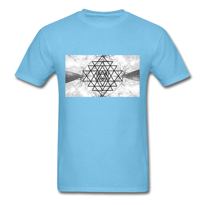 Sacred Geometry Casual Unisex Classic T-Shirt - aquatic blue