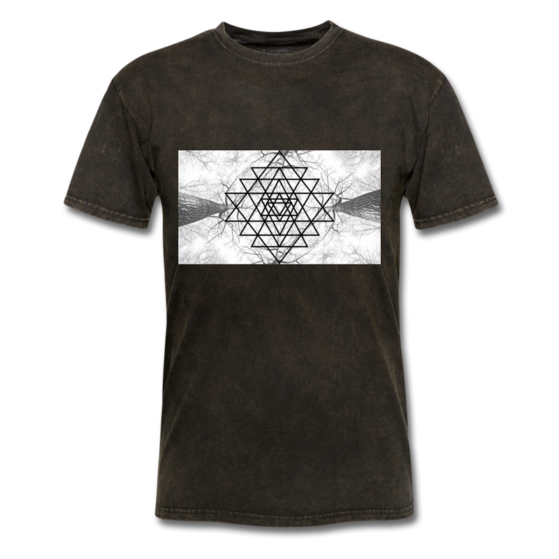 Sacred Geometry Casual Unisex Classic T-Shirt - mineral black