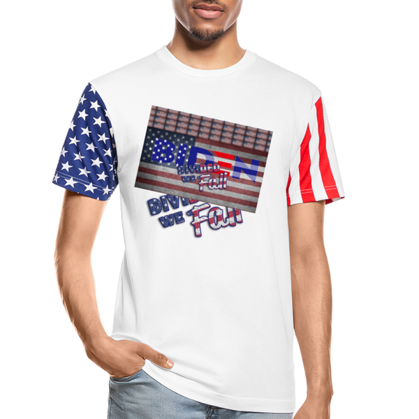 Biden Divided We Fall Stars & Stripes T-Shirt - white