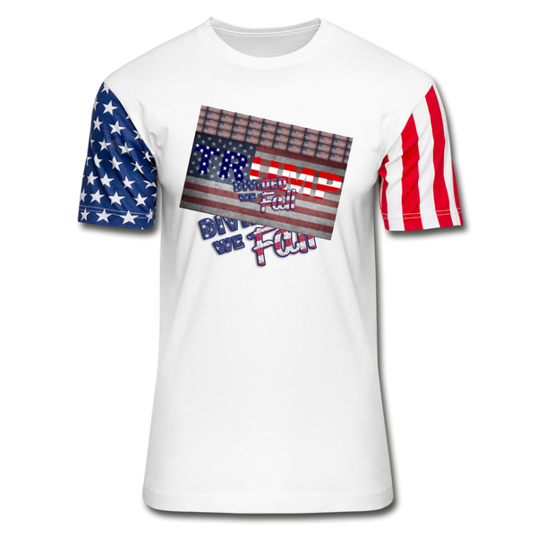Trump Divided We Fall Stars & Stripes T-Shirt - white