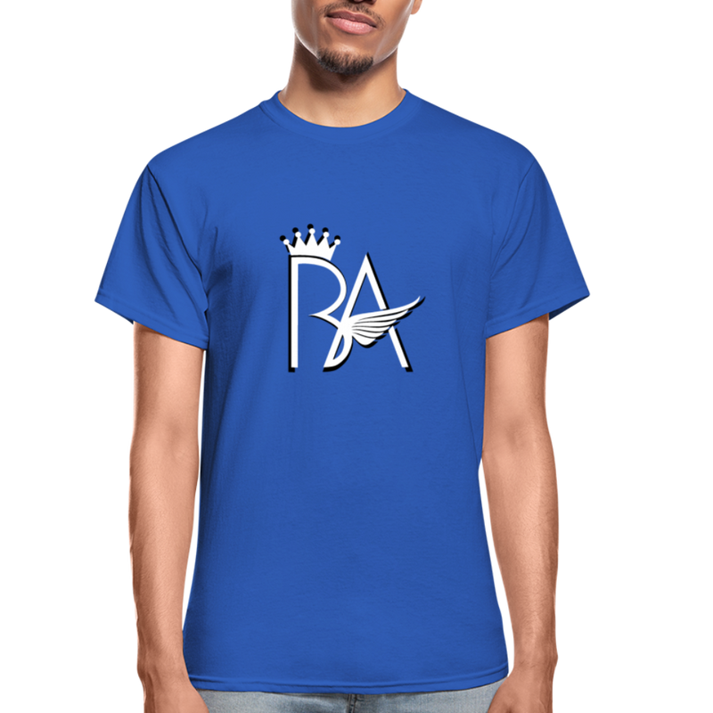 Brian Angel BA Logo Ultra Cotton Adult T-Shirt - royal blue
