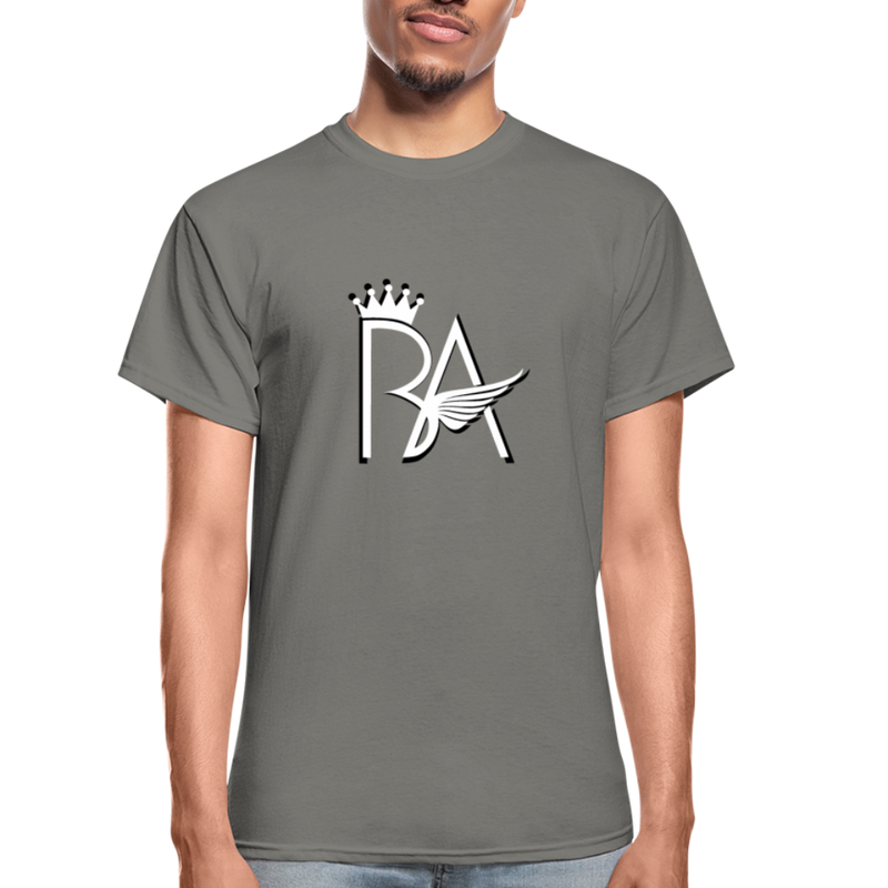 Brian Angel BA Logo Ultra Cotton Adult T-Shirt - charcoal