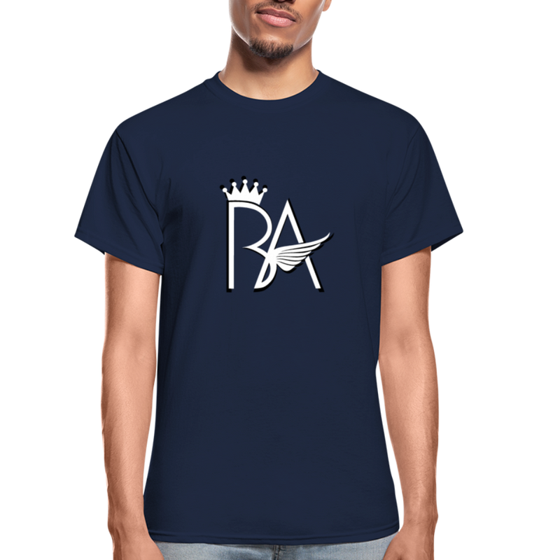 Brian Angel BA Logo Ultra Cotton Adult T-Shirt - navy