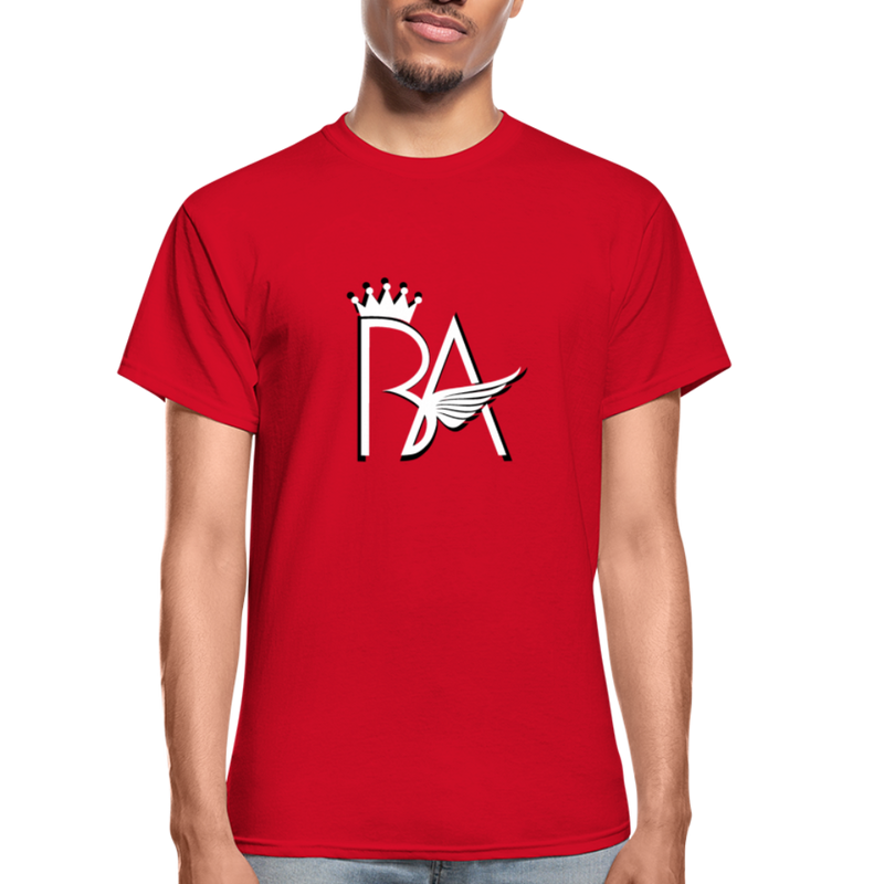 Brian Angel BA Logo Ultra Cotton Adult T-Shirt - red