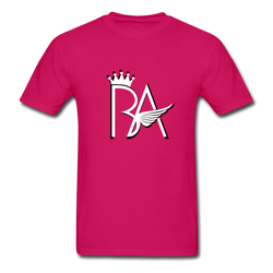 Brian Angel BA Logo Ultra Cotton Adult T-Shirt - fuchsia