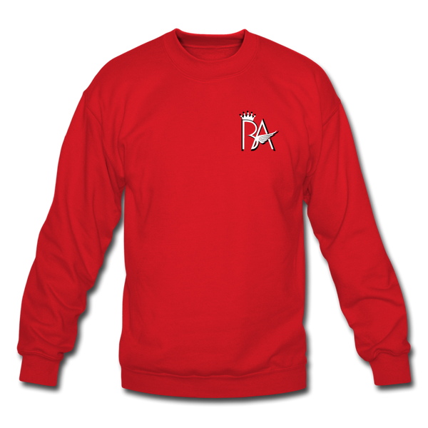 Brian Angel BA Logo Crewneck Sweatshirt - red