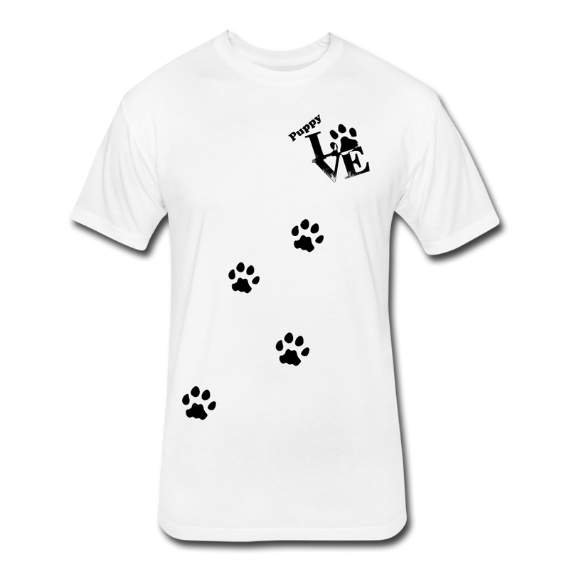 Puppy aLove Fitted Cotton/Poly T-Shirt by Next Level - white