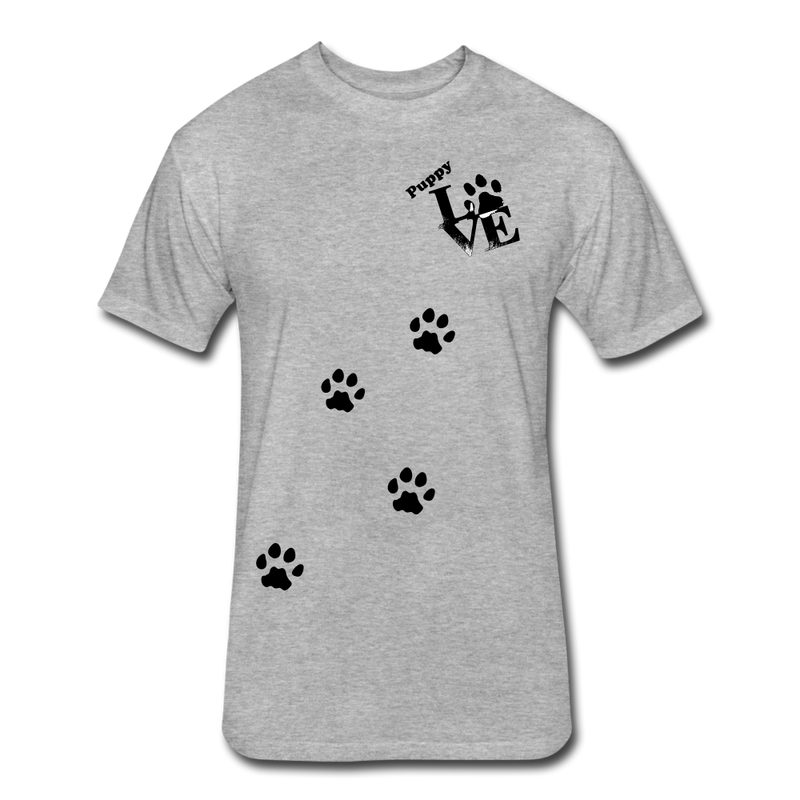 Puppy aLove Fitted Cotton/Poly T-Shirt by Next Level - heather gray