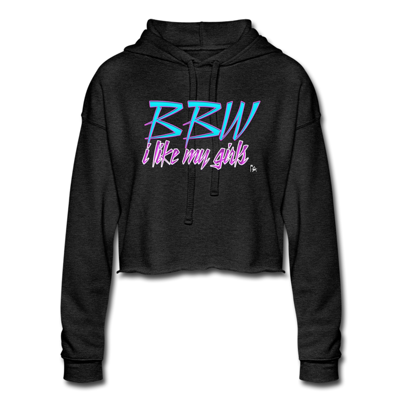 BBW Women's Cropped Hoodie - deep heather