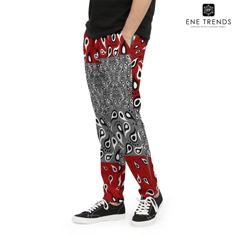 VAQUERO Maroon Men's Joggers 'CUT & SEW MADE TO ORDER' - ENE TRENDS