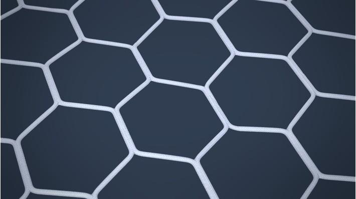 Net 11-a-side White Hexagon