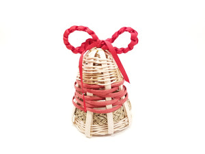 Woven bell with ribbon wreath