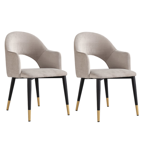 Berlin Dining Chair - Stone Velvet (sold as pair)