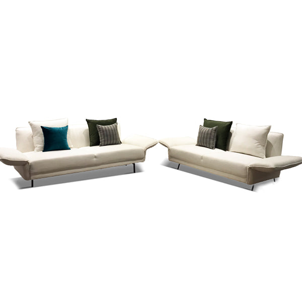 The Boulevard Sofa Set Lagoon Ivory White