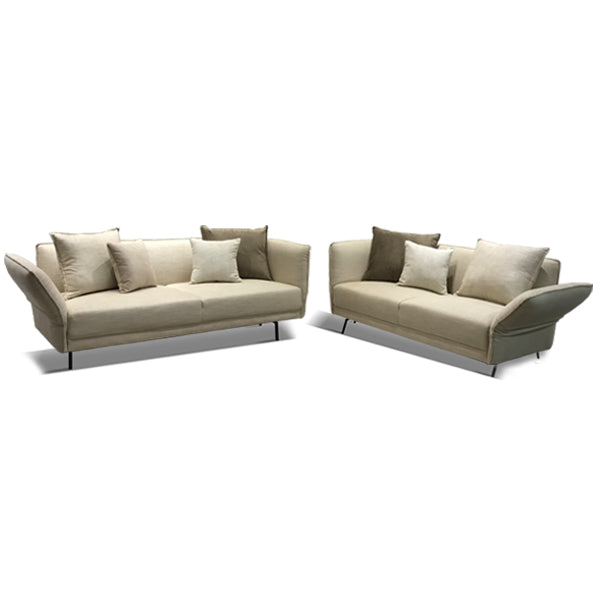 The Boulevard Sofa Set Safari Parchment