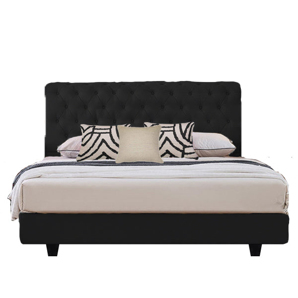 Venice Luxury Velvet Bed Frame with Bedhead