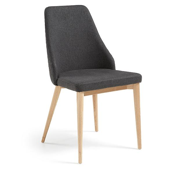 Albert Quilted Dining Chair - Dark Grey