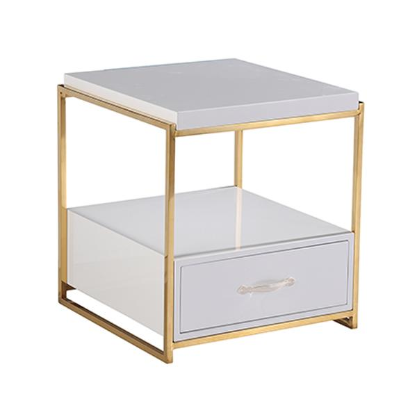 Beverly One Drawer Bedside Table