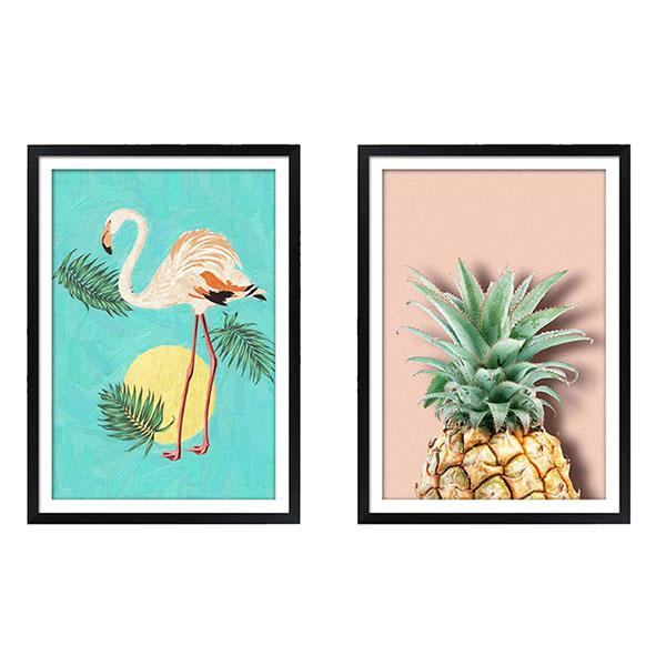 black gloss frame artwork LA summer vibes art set
