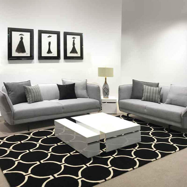 The Derby Boulevard Cement Grey Luxury Sofa Set Free Cushions