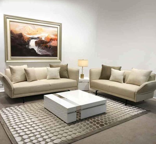 The Boulevard Safari Parchment Colour Luxury Sofa Set Free Cushions