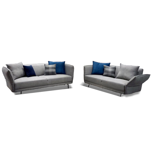 The Boulevard Sofa Set Oceana Steel Grey