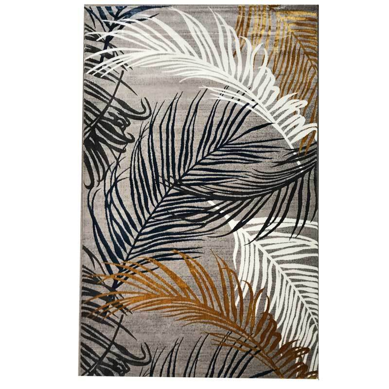 Florida Luxury Floor Rug with crisp white, bronze, gold, midnight blue