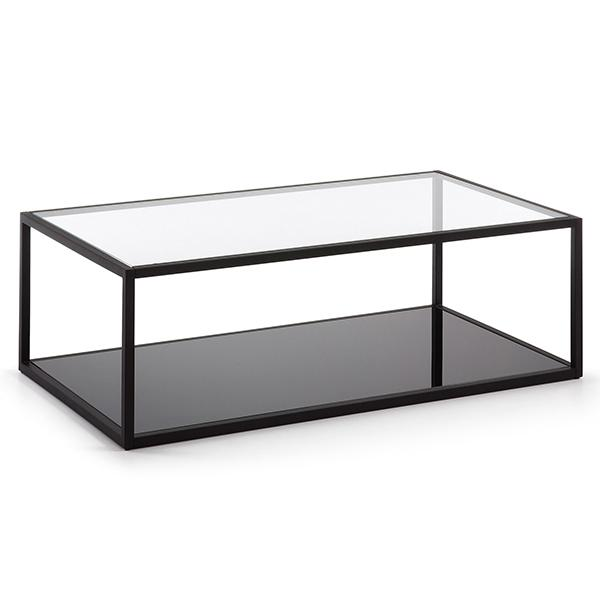 Glebe Rectangle Coffee Table - Black Frame