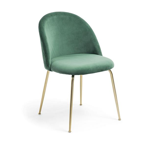 Journey Dining Chair - Emerald with Gold Legs