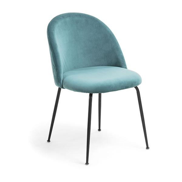 Journey Dining Chair - Teal with Black Legs