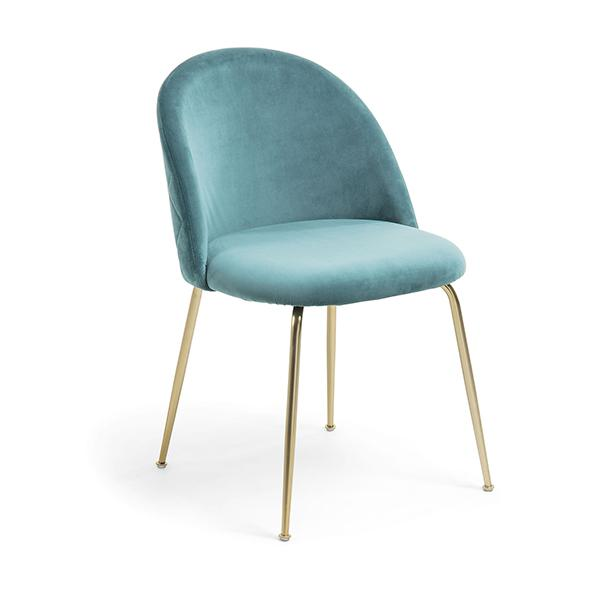 Journey Dining Chair - Teal with Gold Legs