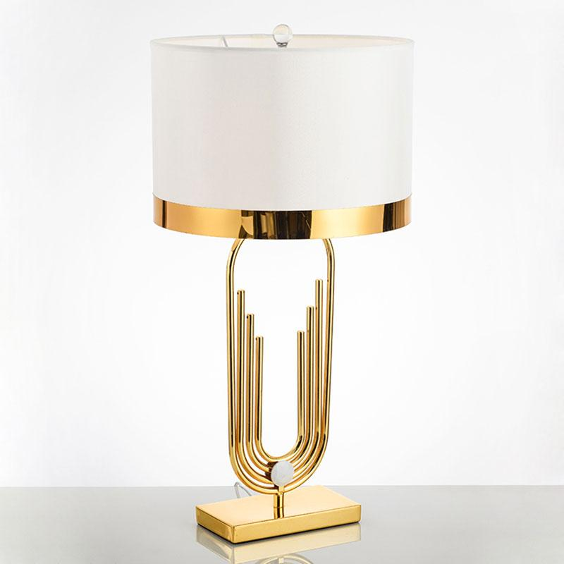 Lexington Gold Frame Table Lamp with white lamp shade