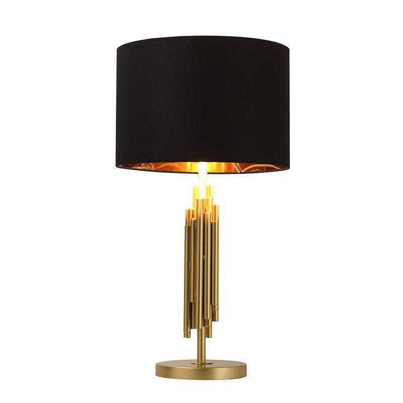 Lonsdale Gold Table Lamp with black lamp shade