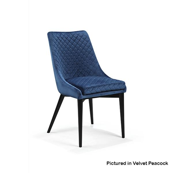 Baker Luxury Velvet Upholstered Dining Chair