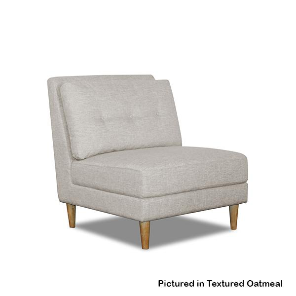 Camden Textured Fabric Armless Chair