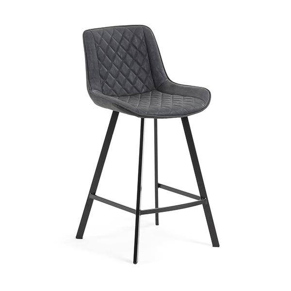 Daytona Bar Stool - Graphite Synthetic Leather