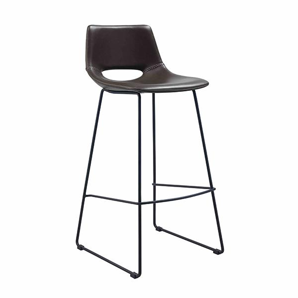 Mondello Bar Stool - Chocolate Brown Synthetic Leather