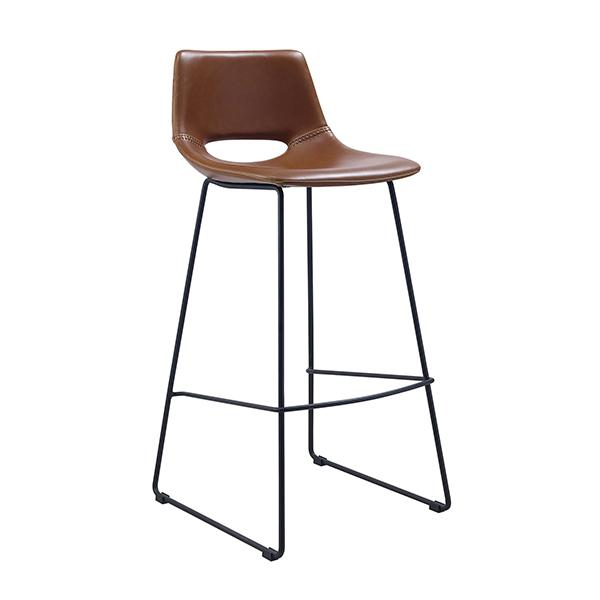 Mondello Bar Stool - Saddle Synthetic Leather