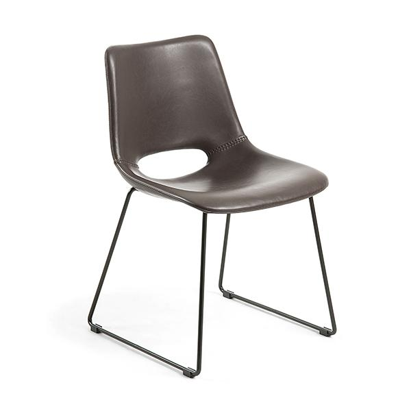 Mondello Dining Chair - Chocolate Brown Synthetic Leather